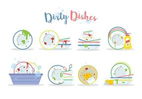 Free Dirty Dishes Vektor