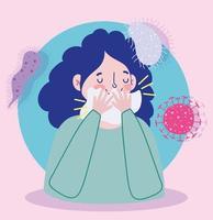 kvinnokaraktär och medvetenhet om virusinfektion