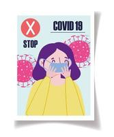 stoppa coronavirus spridning affischmall vektor