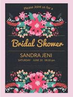 bridal shower inbjudan vektor