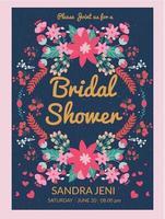 bridal shower inbjudan vol 3 vektor