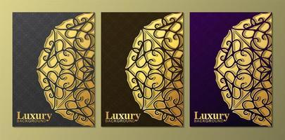 lila, braune und blaue Halbkreis-Mandala-Designs