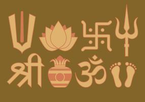 Hinduiska symboler vektor