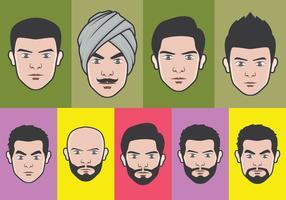 Ansikte avatar vektor uppsättning