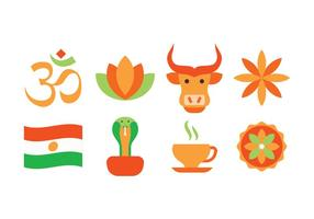 Freie indien icon set