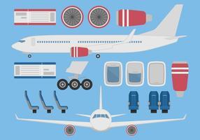 Flugzeug-Vektor-Set