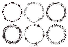 Dekorative Sketchy Vektor Rahmen Sammlung