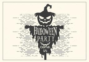 Mörk Halloween Party Vector
