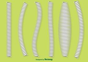 Set von Vektor Slinky Icons