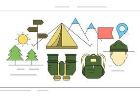 Vektor Scout Symbole