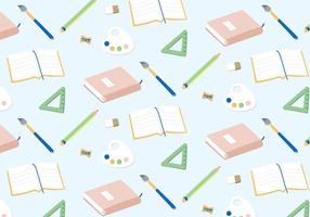 Schule Werkzeug Muster Vektor
