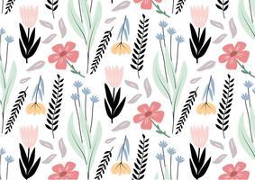 Svart blomma vektormönster vektor