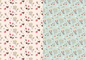 Pastell Pflanzen Vektor Muster