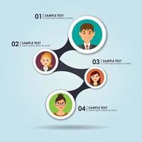 Geschäftsleute Infografik vektor