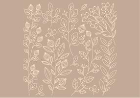 Vektor linjära blomelement