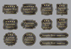 Kundenspezifische Premium-Etiketten vektor