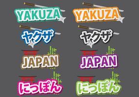 Yukuza und Japan Titel vektor
