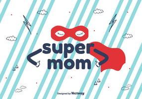 Super Mom Vector Bakgrund
