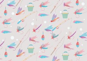 Fliegenfischen Muster Vektor