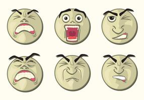 Abgerundeten Affliction Faces vektor