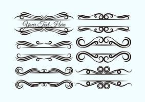 Set von ornamentalen Vorlagen vektor
