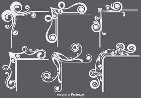 Ornamental Ecken Set vektor