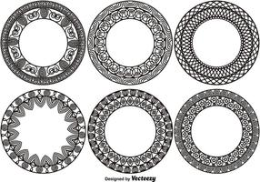 Set med 6 Ornamental Monograms