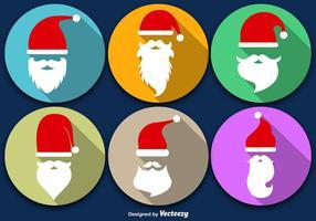 Santa Claus skägg med jul ikon vektor