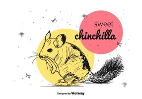 Süßer Chinchilla-Vektor