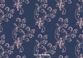 Blaues Vintages Muster vektor