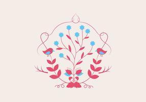 Plant Illustration Bakgrund Vector