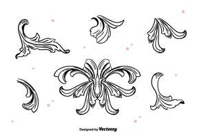 Handgezeichneter Acanthus Vektor