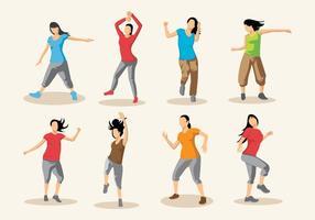 Gratis Zumba Dance Vector