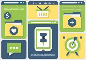 Online marknadsföring företag vektor illustration
