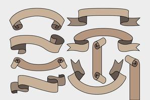 Vector Blank Bänder Set