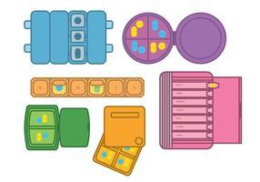 Pill box vektor
