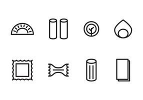 Ikoner för pasta älskare vektor