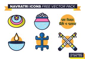 Navratri Ikoner Gratis Vector Pack