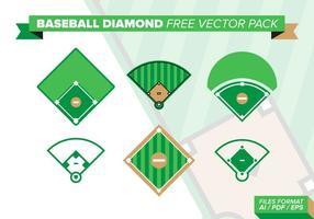 Baseball-Diamant-freies vektor-Satz vektor