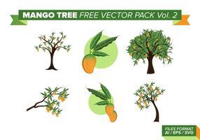 Mango Baum kostenlos Vektor Pack Vol. 2