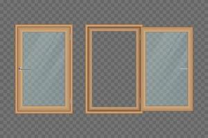 hölzerne Hauptfenster gesetzt isoliert vektor