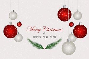Weihnachtskarte mit festlichen Elementen vektor