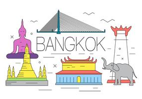 Gratis Bangkok Illustration vektor