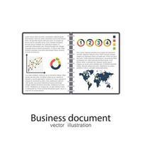 Geschäftsdokument geöffnet vektor