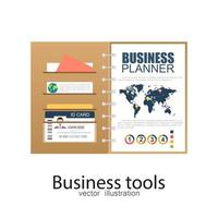 Geschäftsplaner Dokument vektor