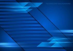 Tech, abstrakter und geometrischer blauer Hintergrund vektor