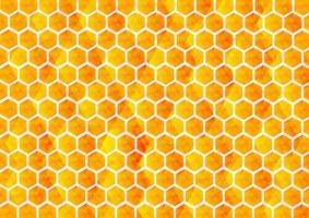 abstrakter gelber und orange Farbverlauf, Sechseckhintergrund