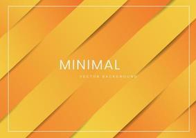 abstrakter, moderner, diagonaler gelber und orange Hintergrund vektor