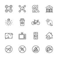 Traveller und Backpacker Icon Set vektor