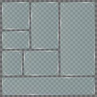 transparente Glasplatten vektor